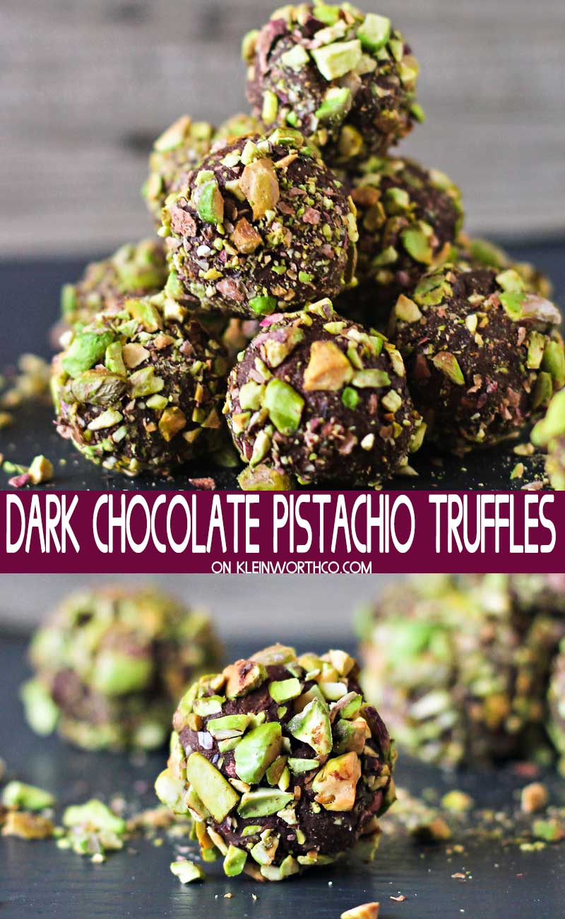 Dark Chocolate Pistachio Truffles