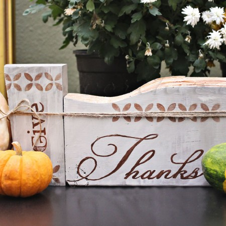 Give Thanks Painted Signs