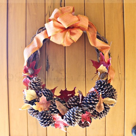 Pine Cone Wreath ~ Project 52 Week 44