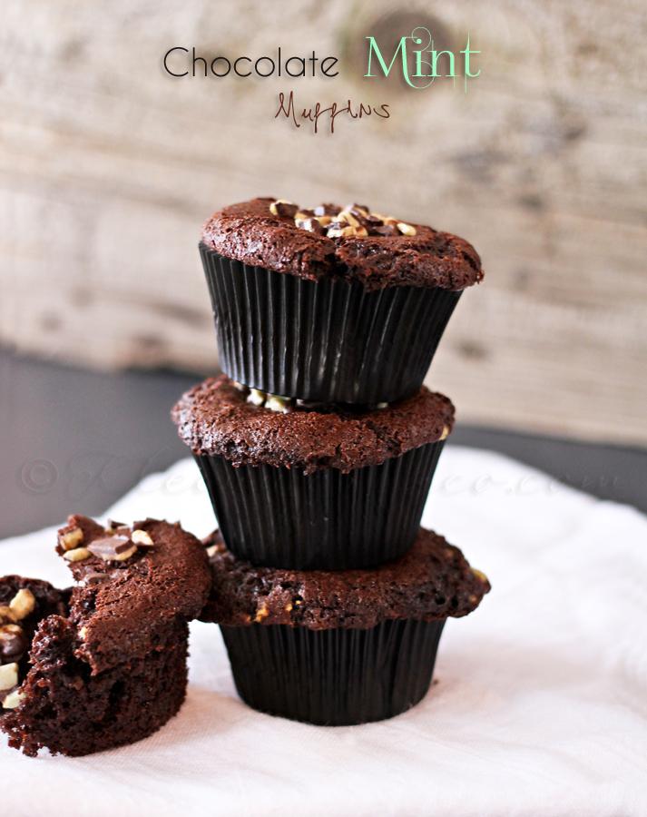 Chocolate Mint Muffins