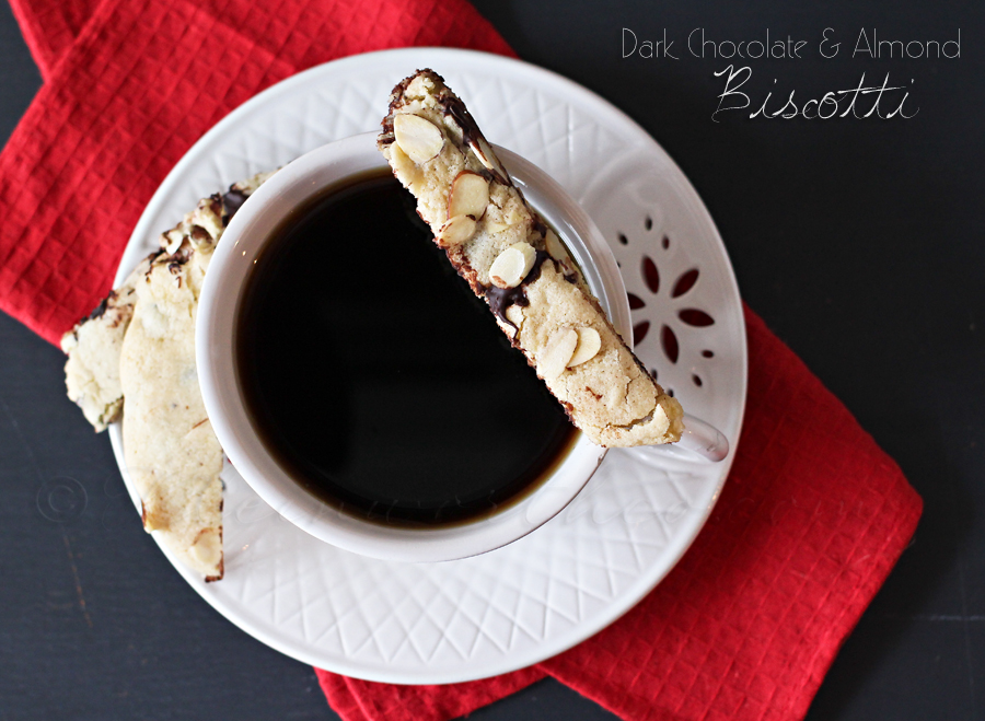 Dark Chocolate Almond Biscotti