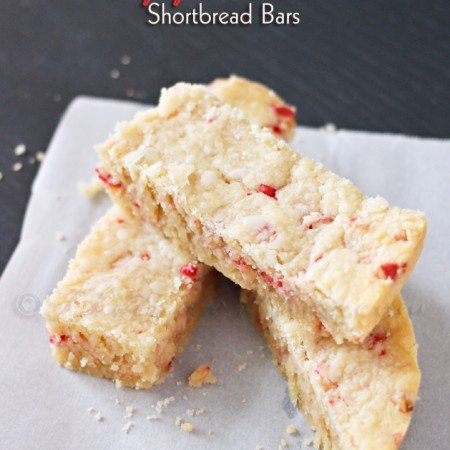 Peppermint Shortbread Bars