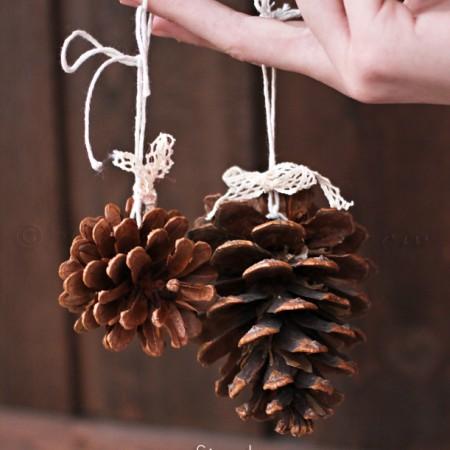 Simple Pine Cone Ornaments