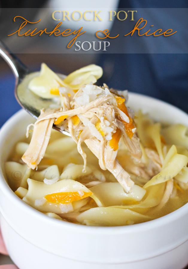 Crock Pot Turkey & Rice Soup
