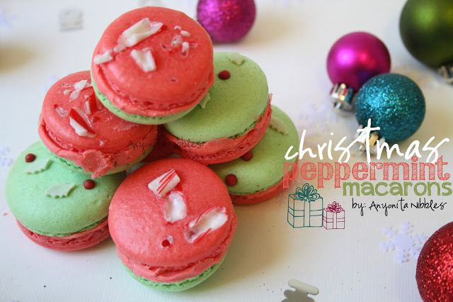 Christmas Peppermint Macarons from Anyonita Nibbles, 15 Holiday Cookie Recipes, Create Link Inspire Features at Kleinworth & Co.