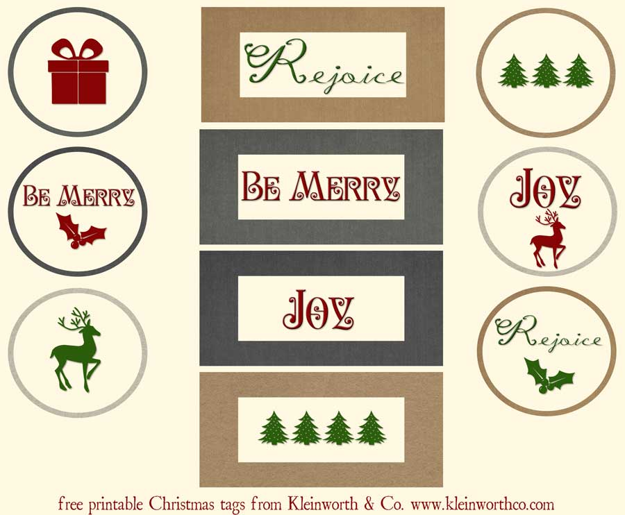 Christmas Gift Tag Printable ~ Christmas Printables Blog Hop