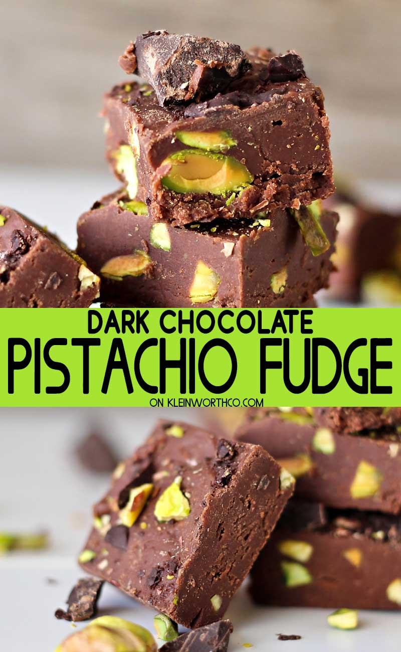 Dark Chocolate Pistachio Fudge
