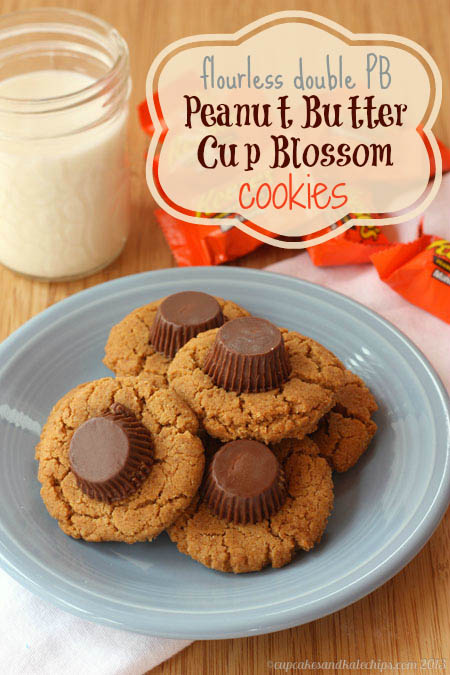 Flourless-Double-Peanut-Butter-Cup-Blossom-Cookies, 15 Holiday Cookie Recipes, Create Link Inspire Features at Kleinworth & Co.