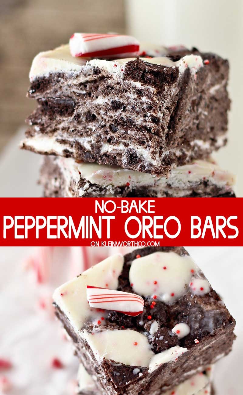 No Bake Peppermint Oreo Bars
