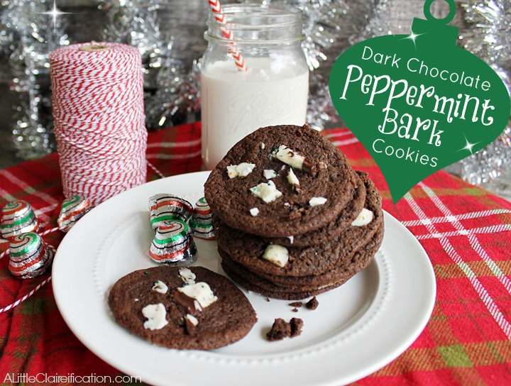 Peppermint-Bark-Cookies, 15 Holiday Cookie Recipes, Create Link Inspire Features at Kleinworth & Co.