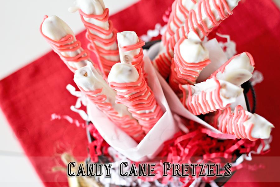 Candy Cane Pretzels