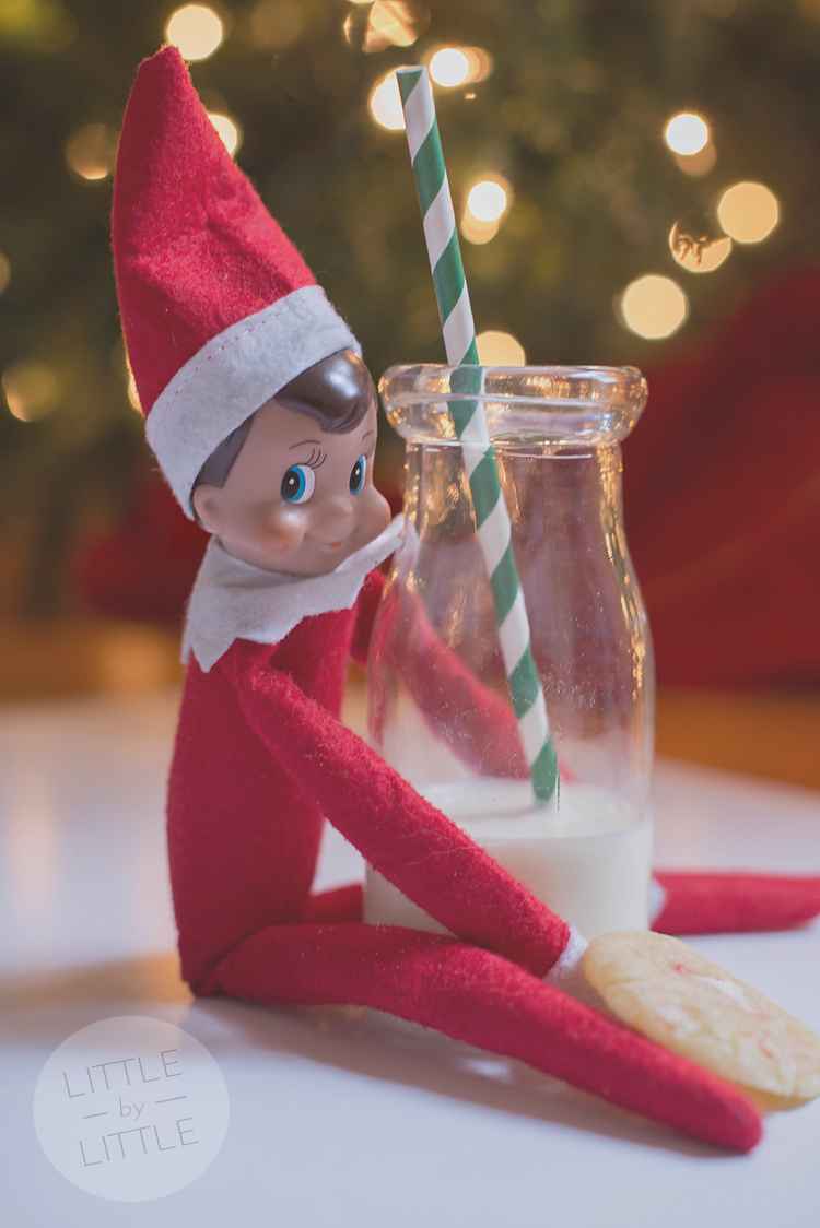 elf with peppermint crinkle-web