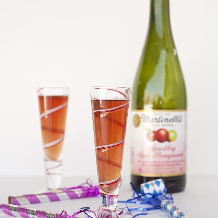 Sparkling Cider New Year's Eve Mocktail