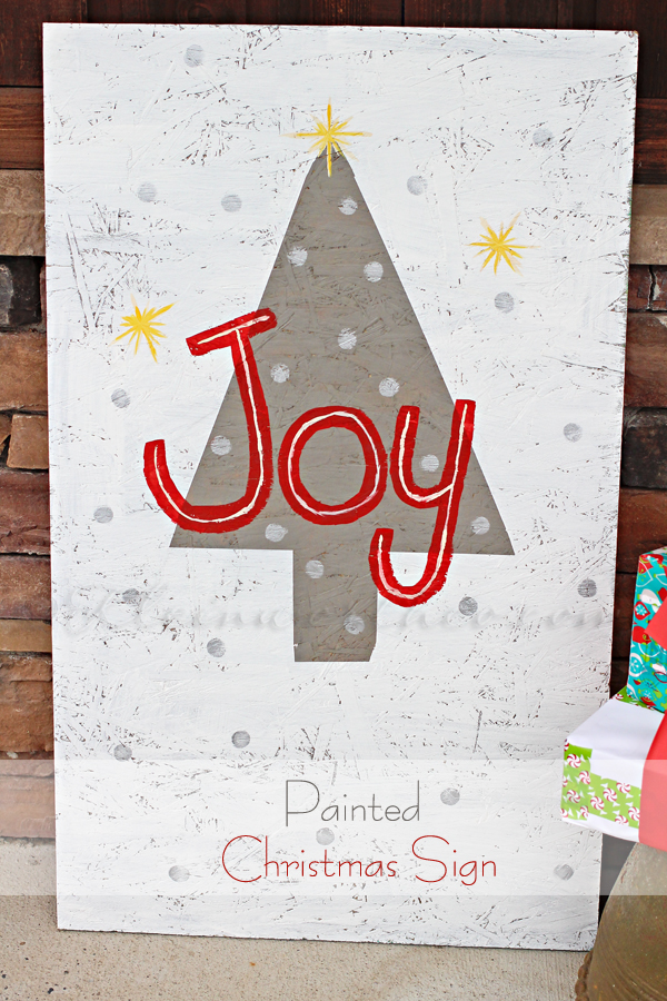 Painted Christmas Sign, #TexturedSurface
