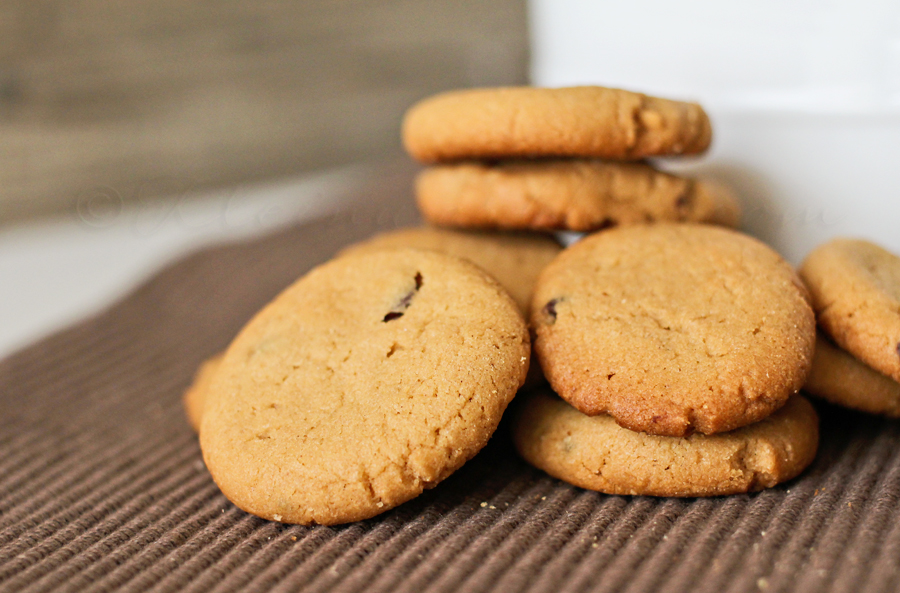Mini Peanut Butter Chocolate Chip Cookies from Kleinworth & Co. www.kleinworthco.com