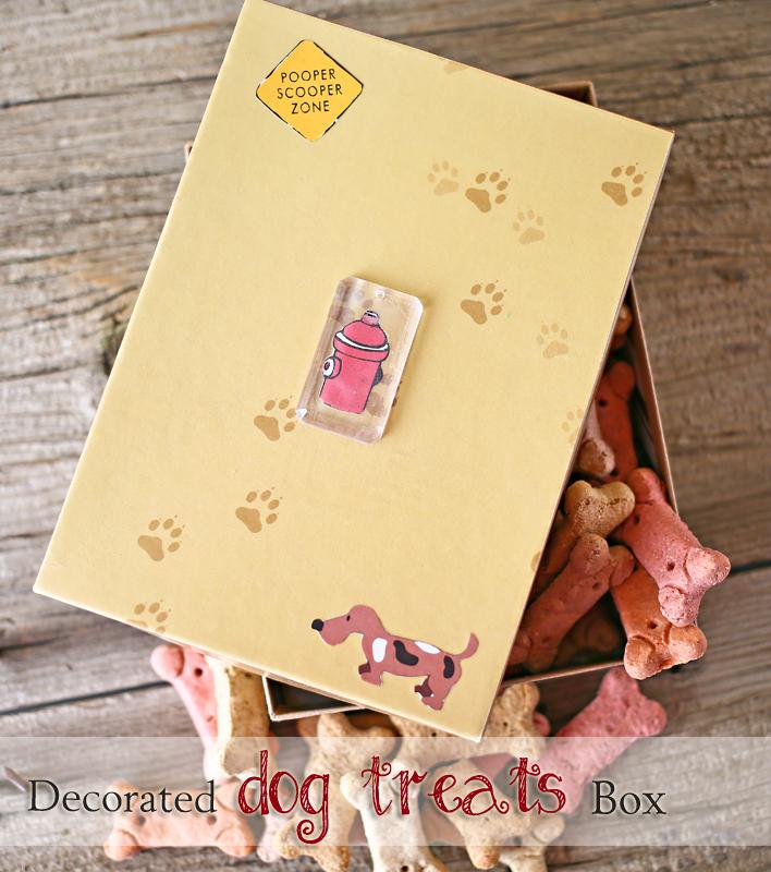 Decorated Dog Treats Box