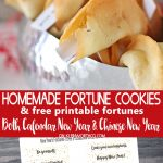 Homemade Fortune Cookies & Free Printable