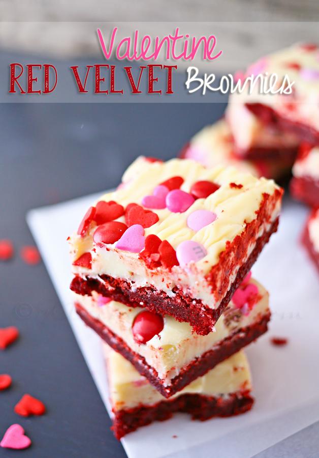 Valentine Red Velvet Brownies
