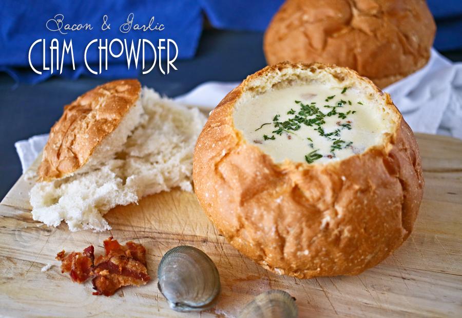 Bacon and Garlic Clam Chowder