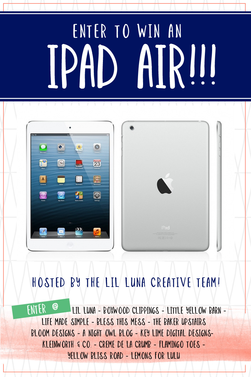 iPad Air Giveaway - Enter to win today on { www.kleinworthco.com }