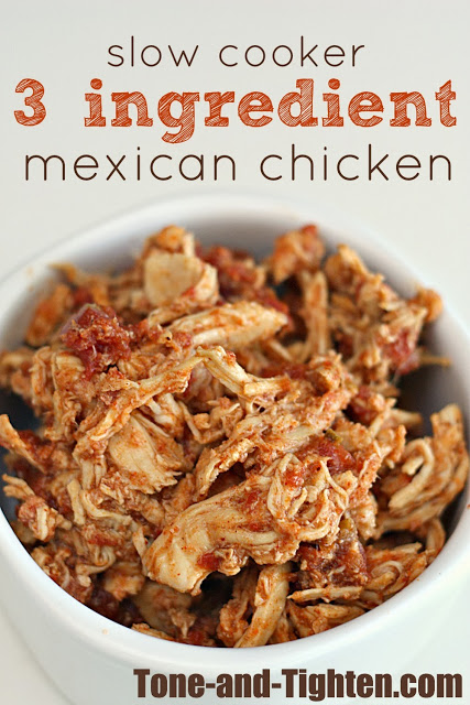 slow cooker 3 ingredient mexican chicken
