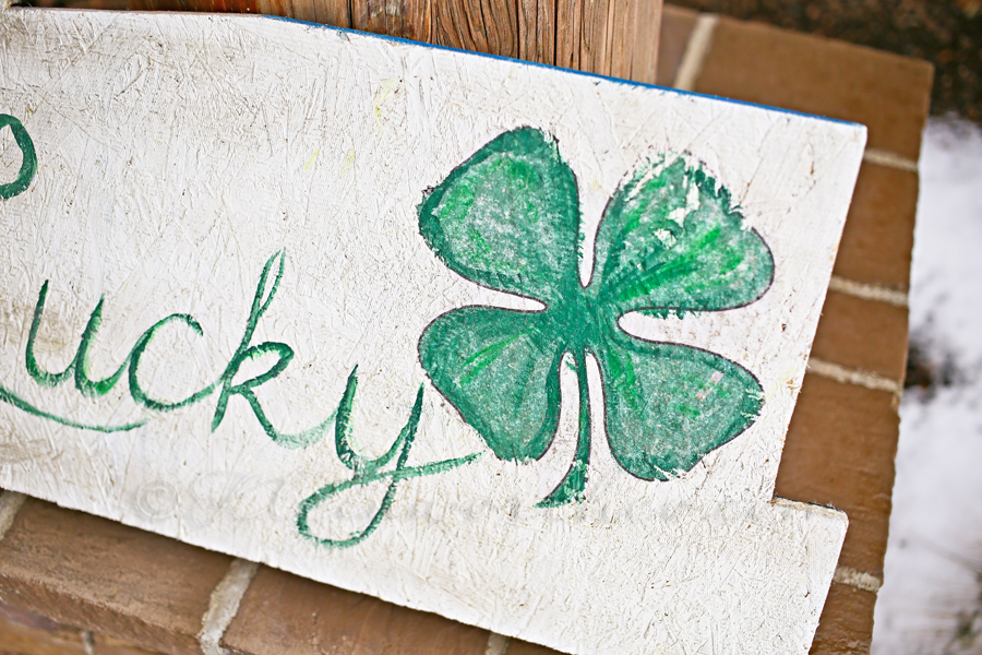 Lucky St. Patrick's Day Sign