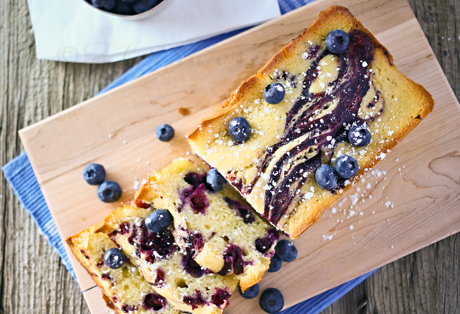 Blueberry Swirl Pound Cake