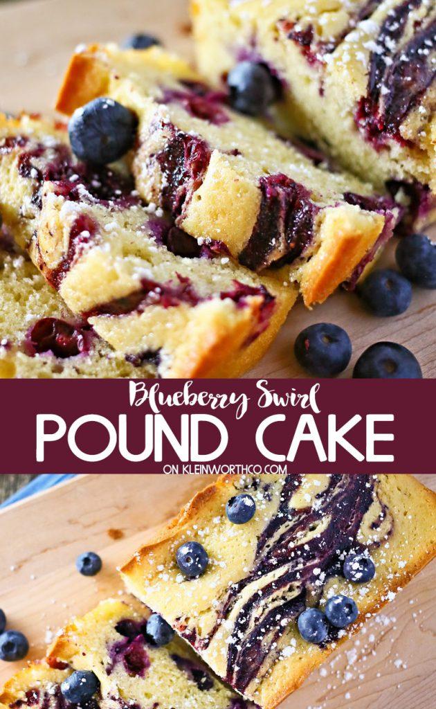 Blueberry Swirl Pound Cake