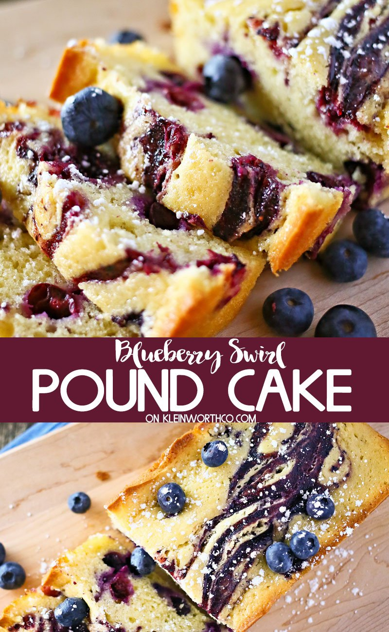 Blueberry Swirl Pound Cake Kleinworth Co