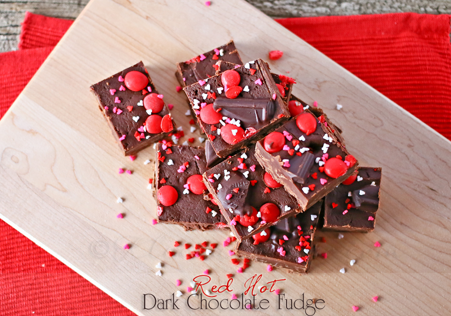 Red Hot Dark Chocolate Fudge