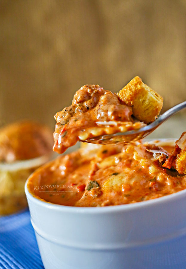sausage ravioli soup