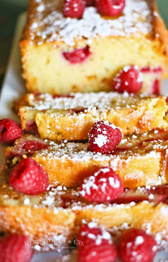 Dessert Raspberry White Chocolate Pound Cake