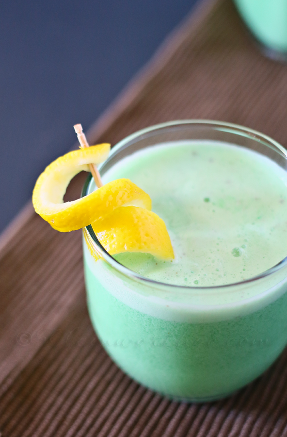 Non Alcoholic Lime Fauxjito Recipe. Easy and delicious St. Patrick's Day drink.