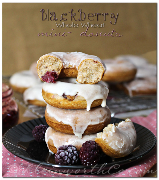 Blackberry Whole Wheat Mini Donuts