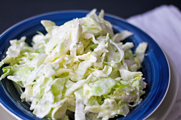Garlic Cabbage Slaw