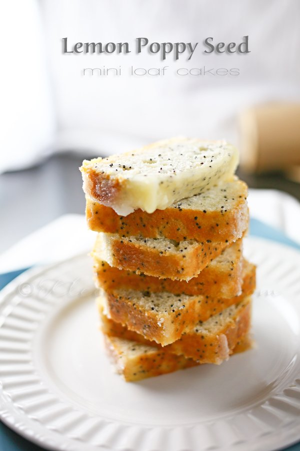 Lemon Poppy Seed Mini Loaf Cakes
