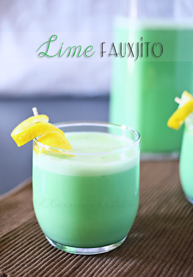 Non Alcoholic Lime Fauxjito Recipe. Easy and delicious St. Patrick's Day Drink