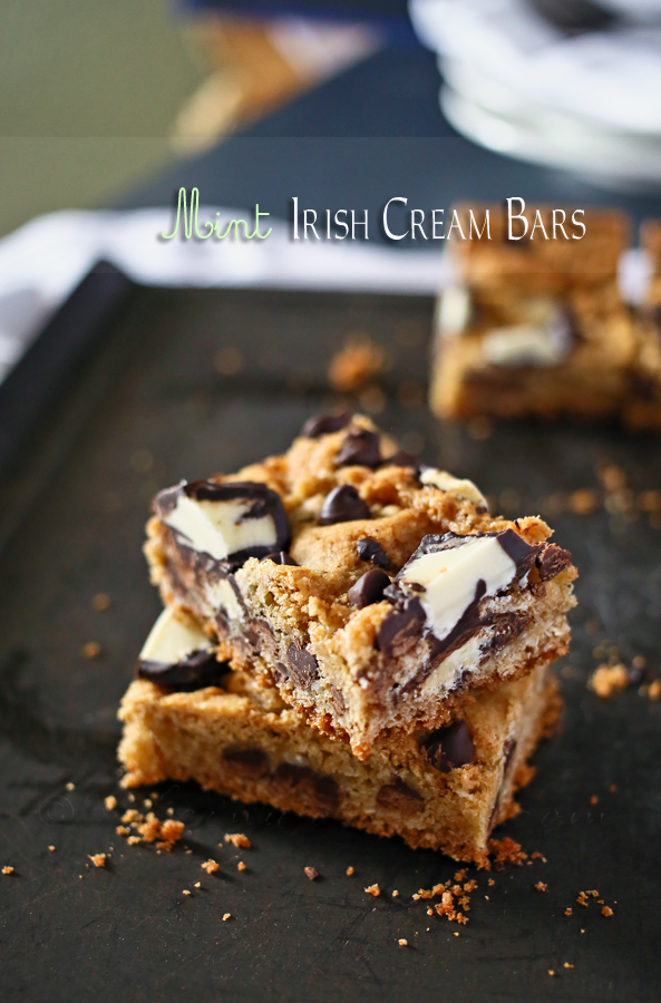 Mint Irish Cream Bars