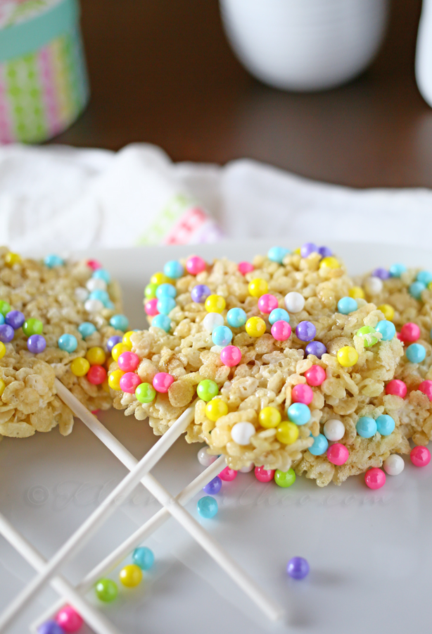 Easter Krispie Pops