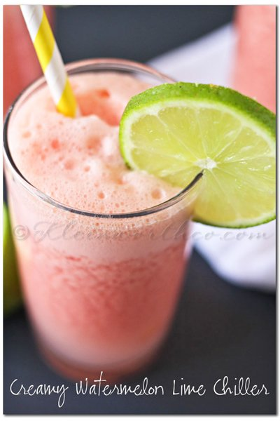 Creamy Watermelon Lime Chiller