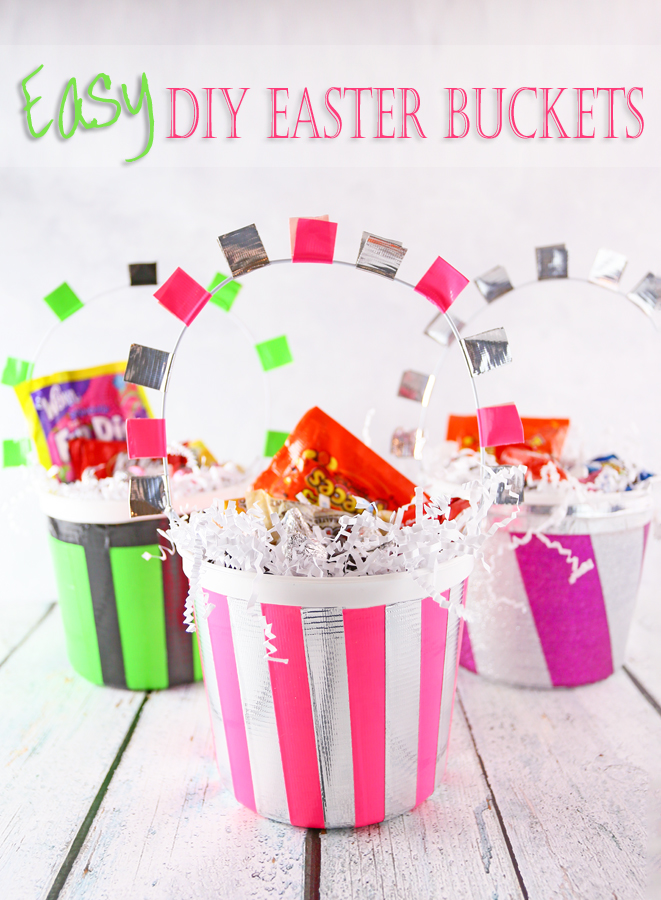 DIY Easter Bucket #DuckTape