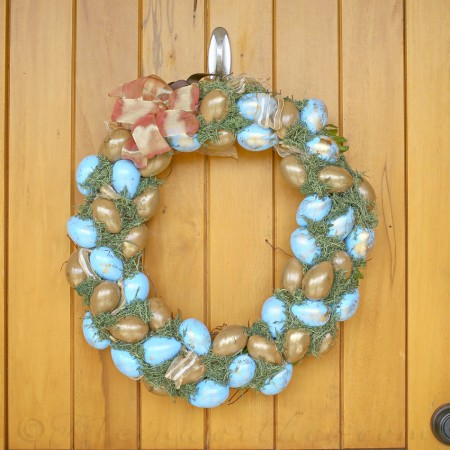 Blue & Gold Easter Wreath