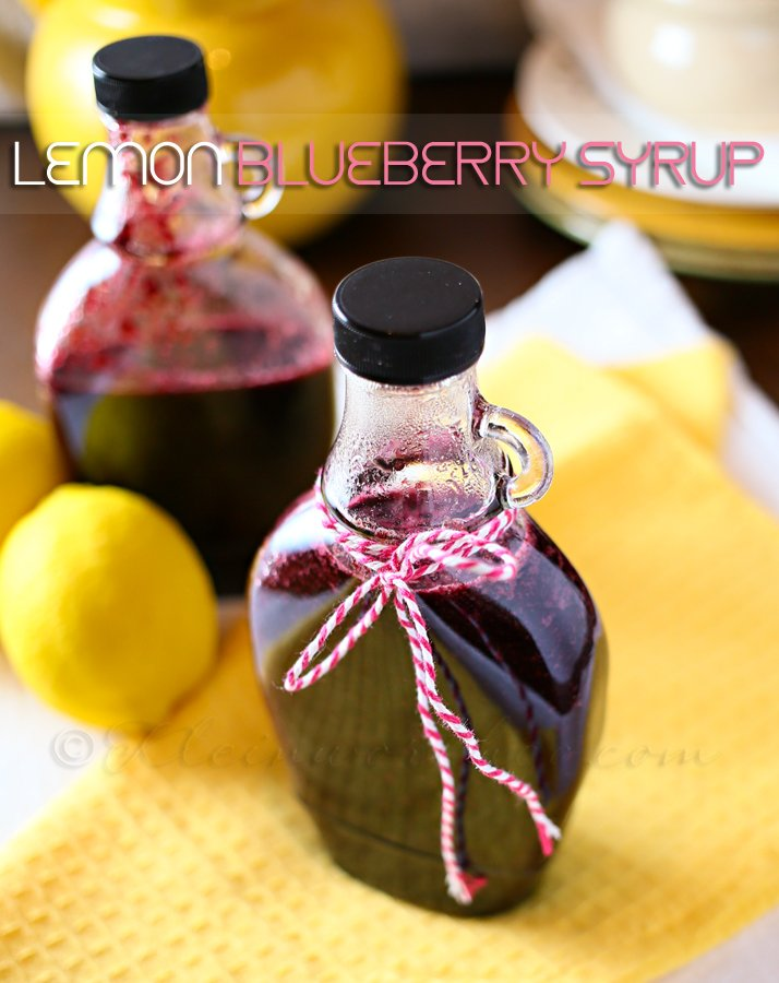 Lemon Blueberry Syrup