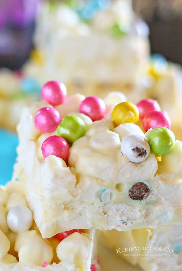 how to make Marshmallow Easter Bars