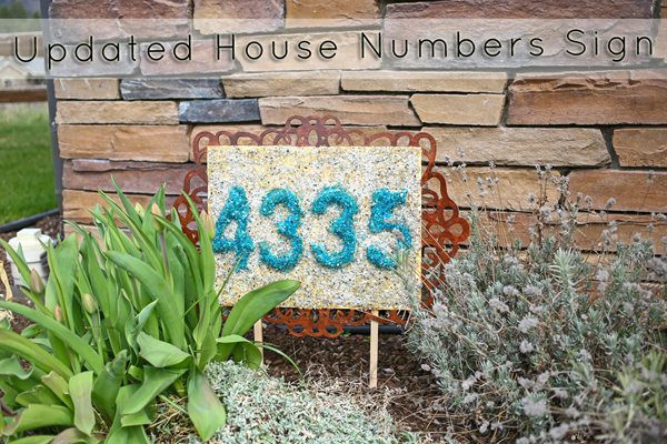 Updated House Numbers Sign