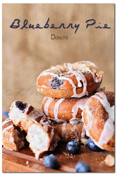 Blueberry Pie Donuts