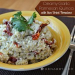 Creamy Garlic Parmesan Quinoa with Sun Dried Tomatoes