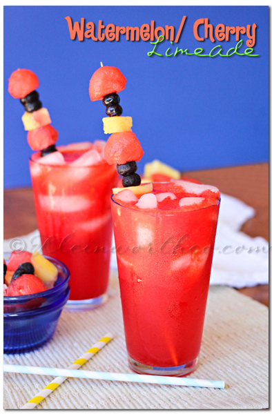 Watermelon Cherry Limeade