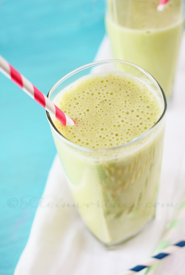 Green Tea Banana Smoothie www.kleinworthco.com