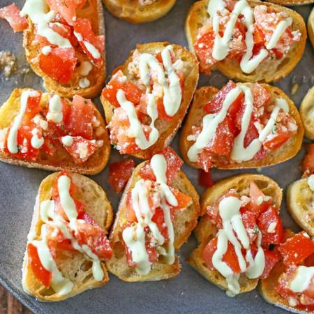 Easy Garlic Bruschetta